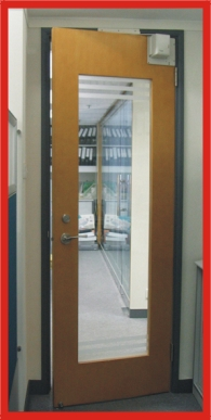 Glass Door with Swing Door Opener
